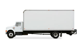 box truck with liftgate for repair