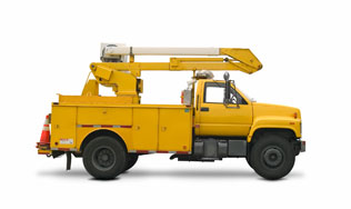truck with hiab truck mounted crane